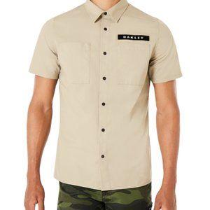 Oakley Men's Short Sleeve Shirt Khaki/ Tan Size XL